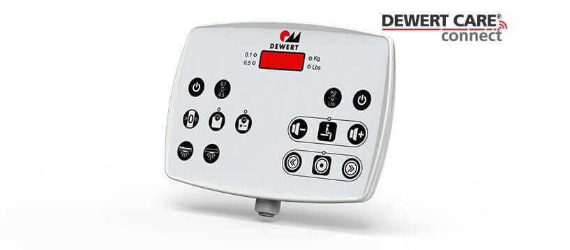 Dewert Care Connect scale indicator